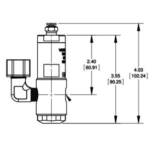 7021020 Nordson EFD 725HF-SS piston valve drawing