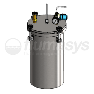 1000CL-ST-10L stainless steel 304 standard Pressure Tank_3D