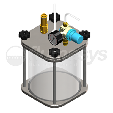 2000ML-CT-2L acrylic & stainless steel 303 Clear Pressure Tank_3D