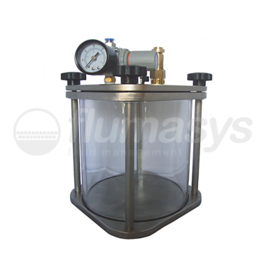 2000ML-CTG-2L Toughened Glass & stainless steel 303 Clear Pressure Tank