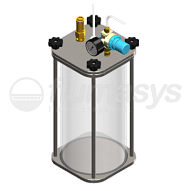 5000ML-CT-5L acrylic & stainless steel 303 Clear Pressure Tank_3D