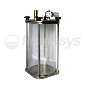 5000ML-CTG-5L Toughened Glass & stainless steel 303 Clear Pressure Tank