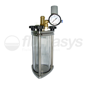 500ML-CTG-0,5L Toughened Glass & stainless steel 303 Clear Pressure Tank