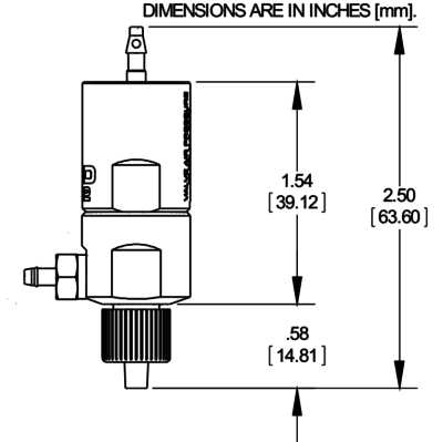 NordsonEFD 702V mini diaphragm valve drawing