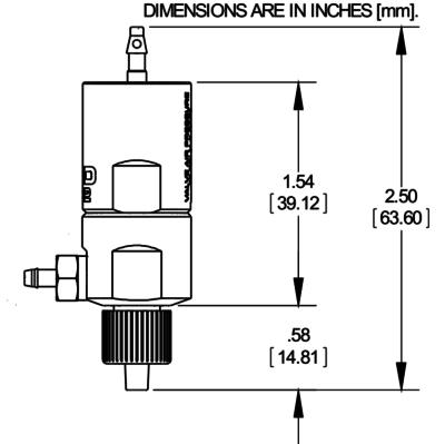NordsonEFD 702V mini diaphragm valve drawing