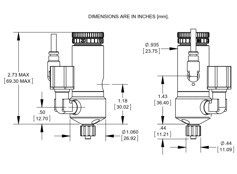 NordsonEFD_752V_diaphragm_valve_drawing