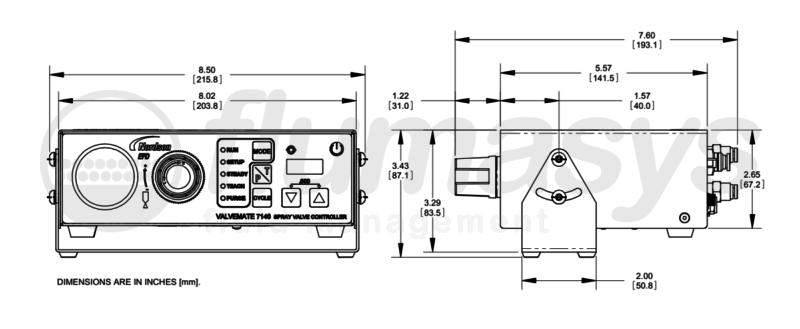 NORDSONEFD-CONTROLLER 7140 SPRAY VALVE_drawing