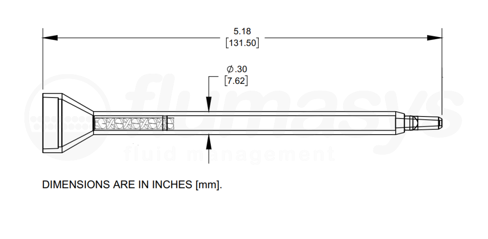 7700819_Nordson_EFD_160-424SH_TAH_static_mixer_drawing