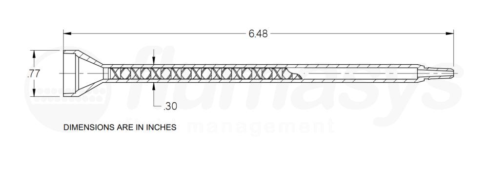 7700824_Nordson_EFD_160-432SH_TAH_static_mixer_drawing