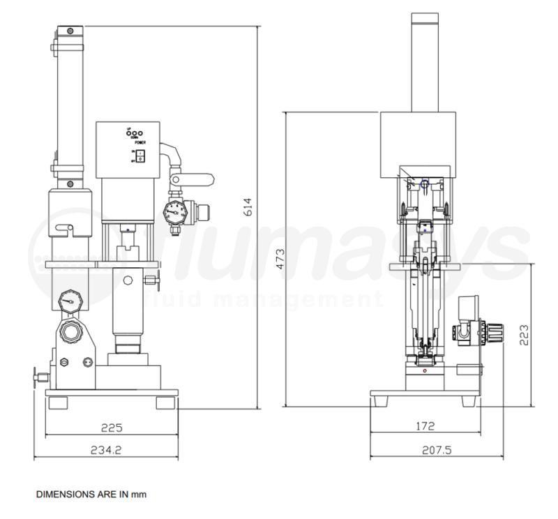 SJP315CT_Flumasys_SINGLE_CARTRIDGE_PUMP_drawing