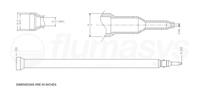 7700920_Nordson_EFD_160-824AA-2_TAH_static_mixer_drawing